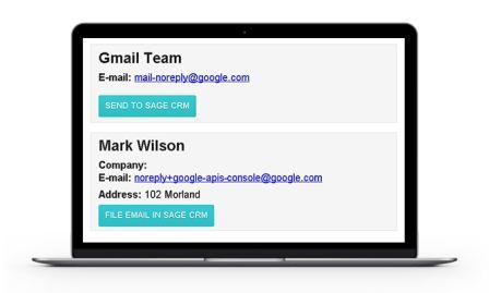 integrating gmail with sage crm